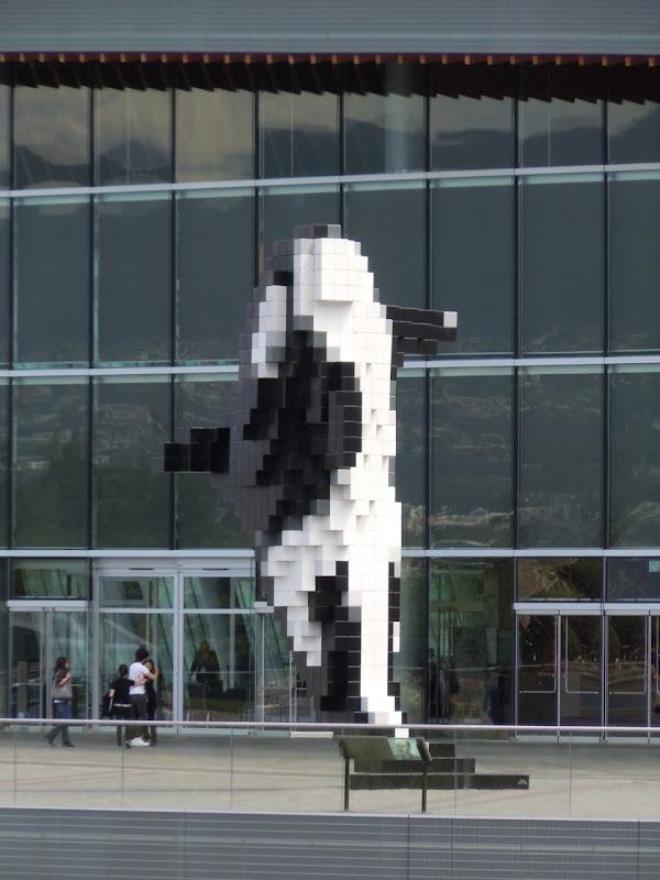 Digital Orca sculpture Vancouver