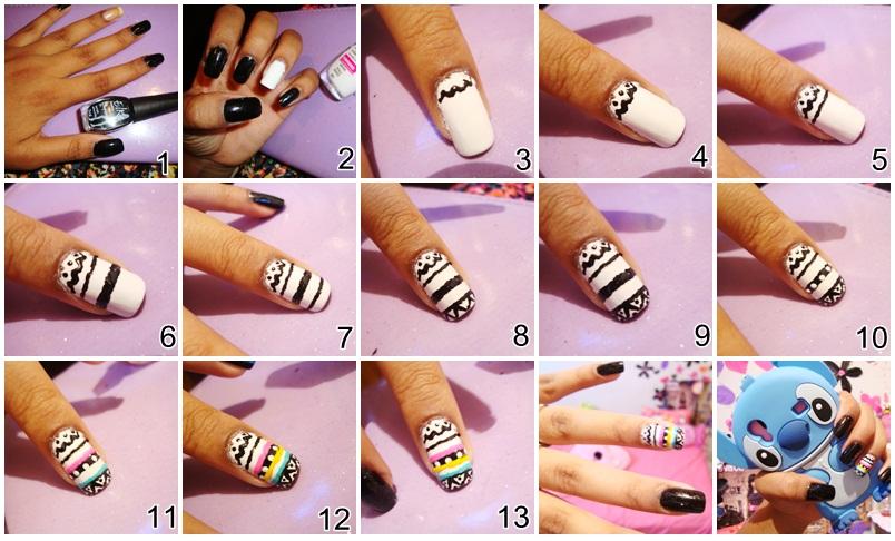 Nail Art Xadrez Passo A Passo | Nail Art Designs