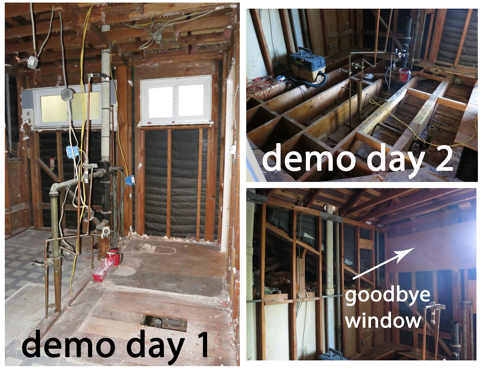 The new mrs honda bathroom remodel demo days for Bathroom remodel in 3 days