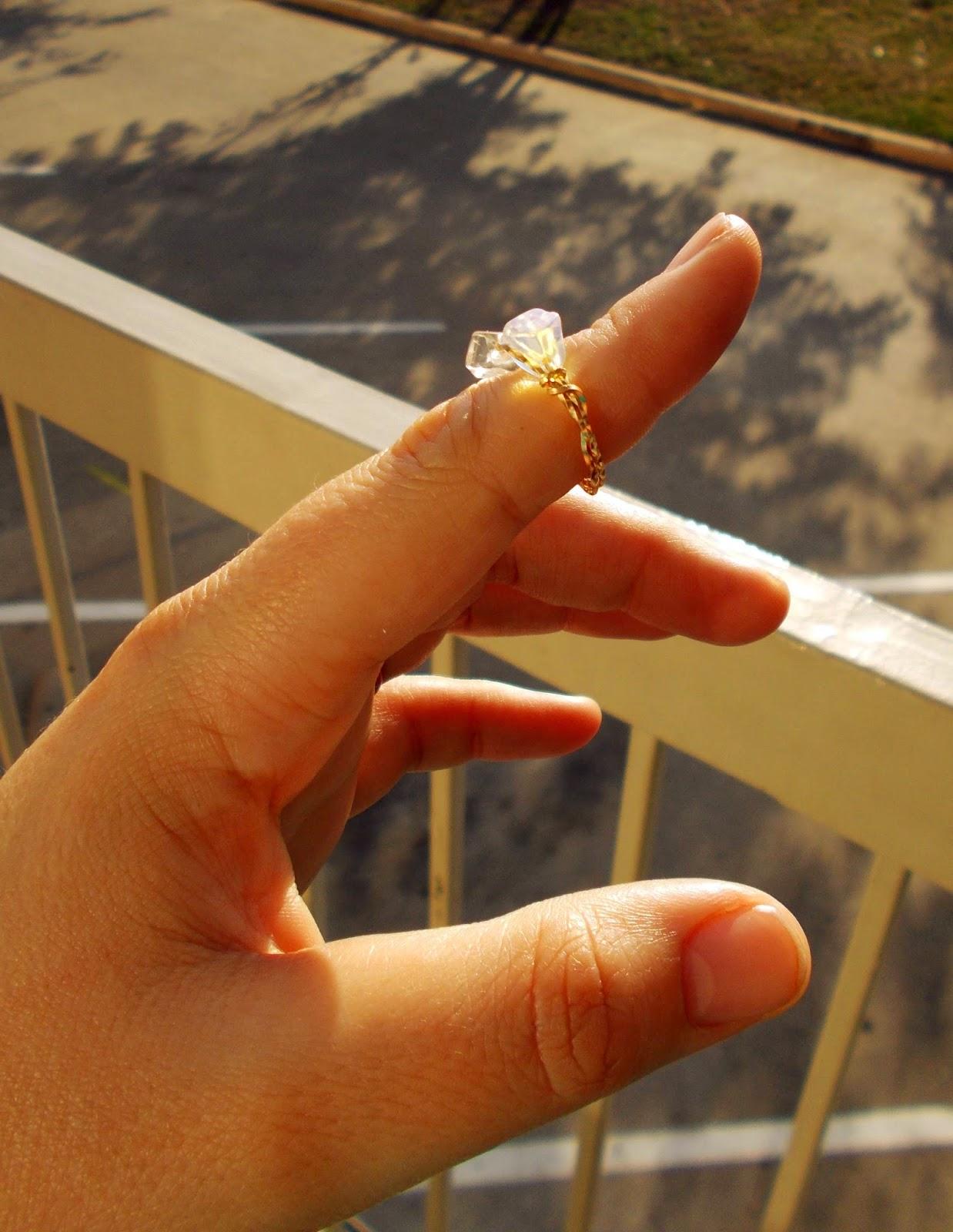 14K Gold Gemstone Ring Size 5 $69