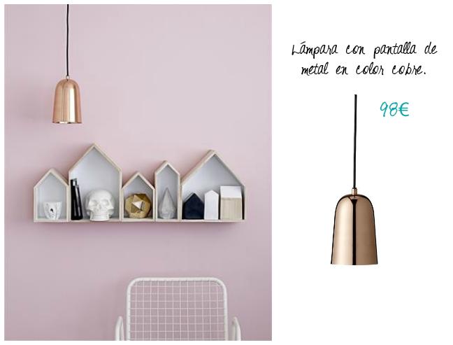 Lámpara cobre diseño original