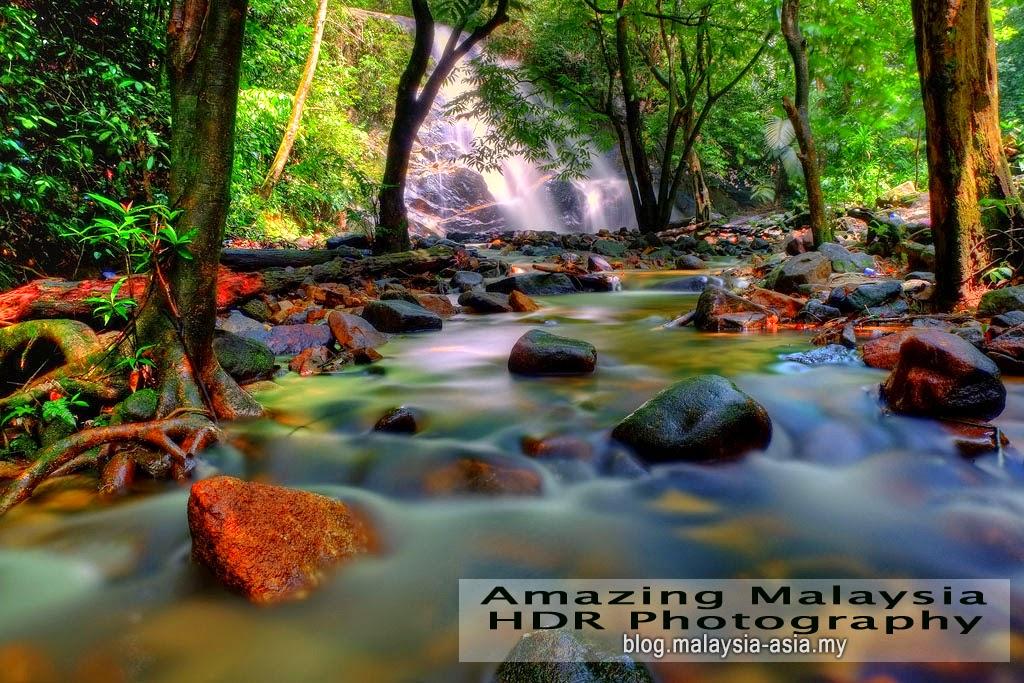 Kanching Waterfalls in Templer Park, Selangor