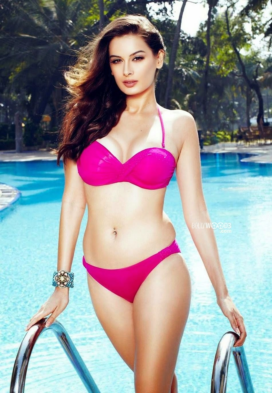 Evelyn Sharma bikini purple