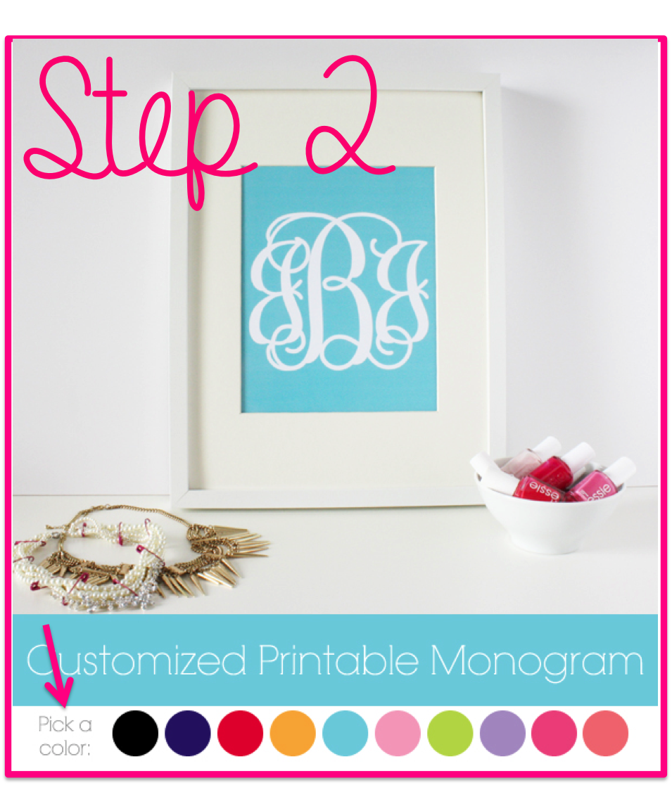 how to make monogrammed stickers
