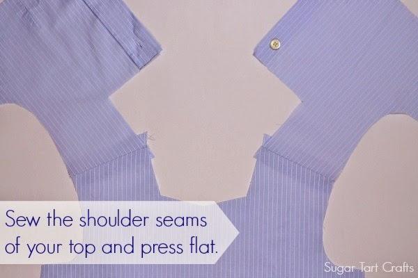 Stitch the shoulder seams on the bodice.