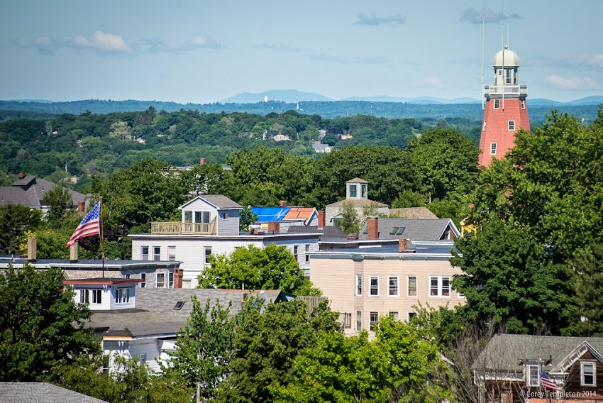 Portland Observatory and Skyline Portland, Maine Munjoy Hill Summer June 2014 photo by Corey Templeton