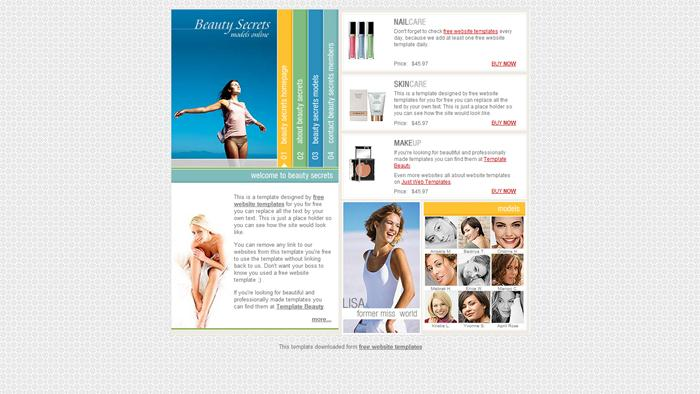 Beauty-Secrets Free CSS Template