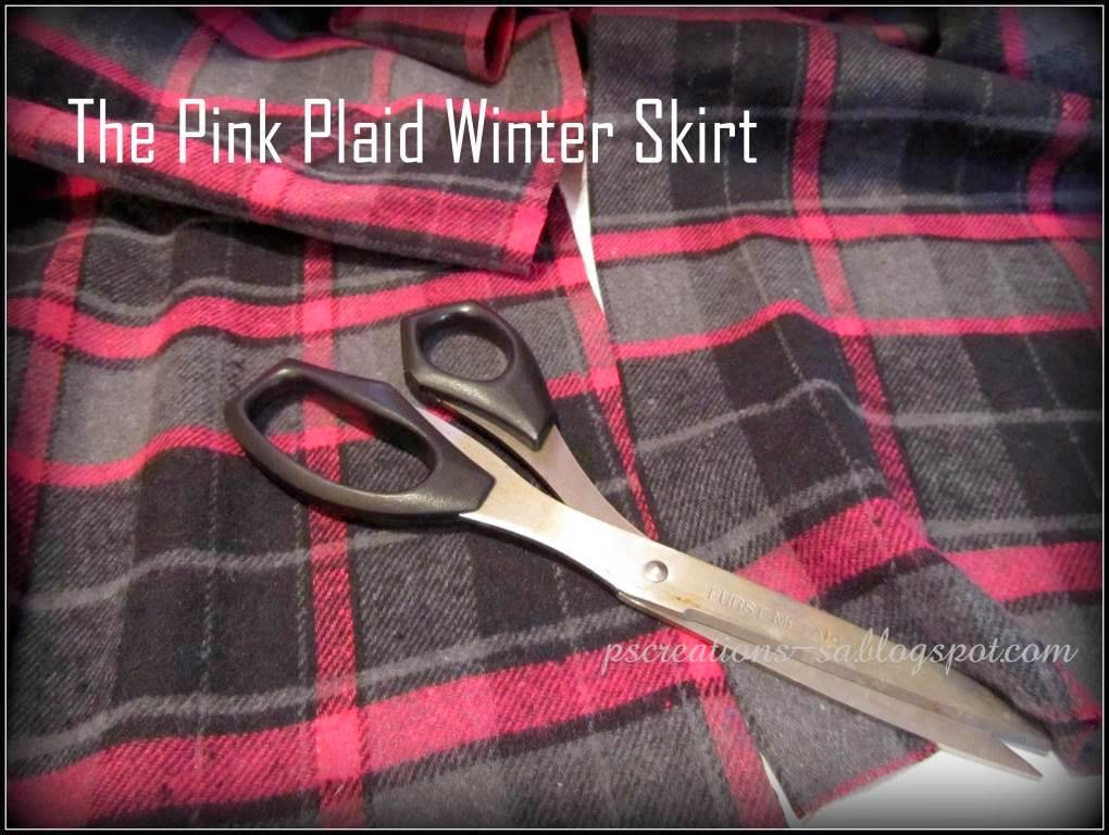 Ps Creations Sewing A Pink Plaid Winter Skirt