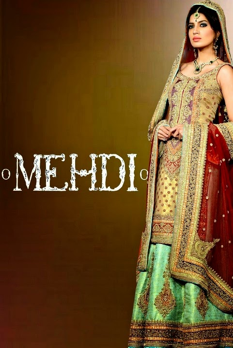Latest Mehdi Bridal Wear New Collection 2014