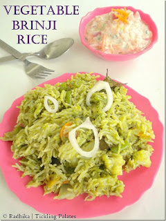 Vegetable brinjal rice
