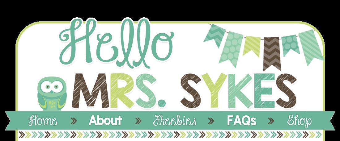 Hello Mrs Sykes