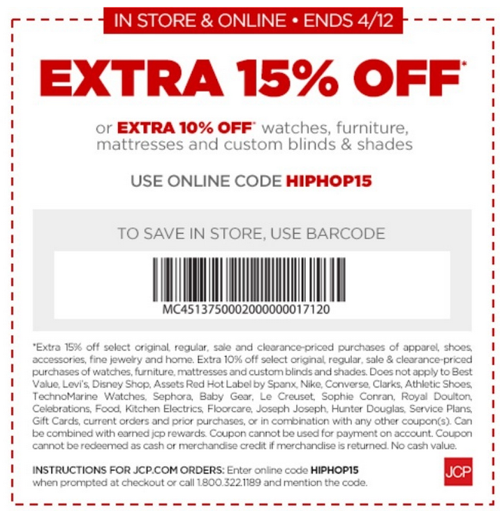jcpenney coupons december 2014
