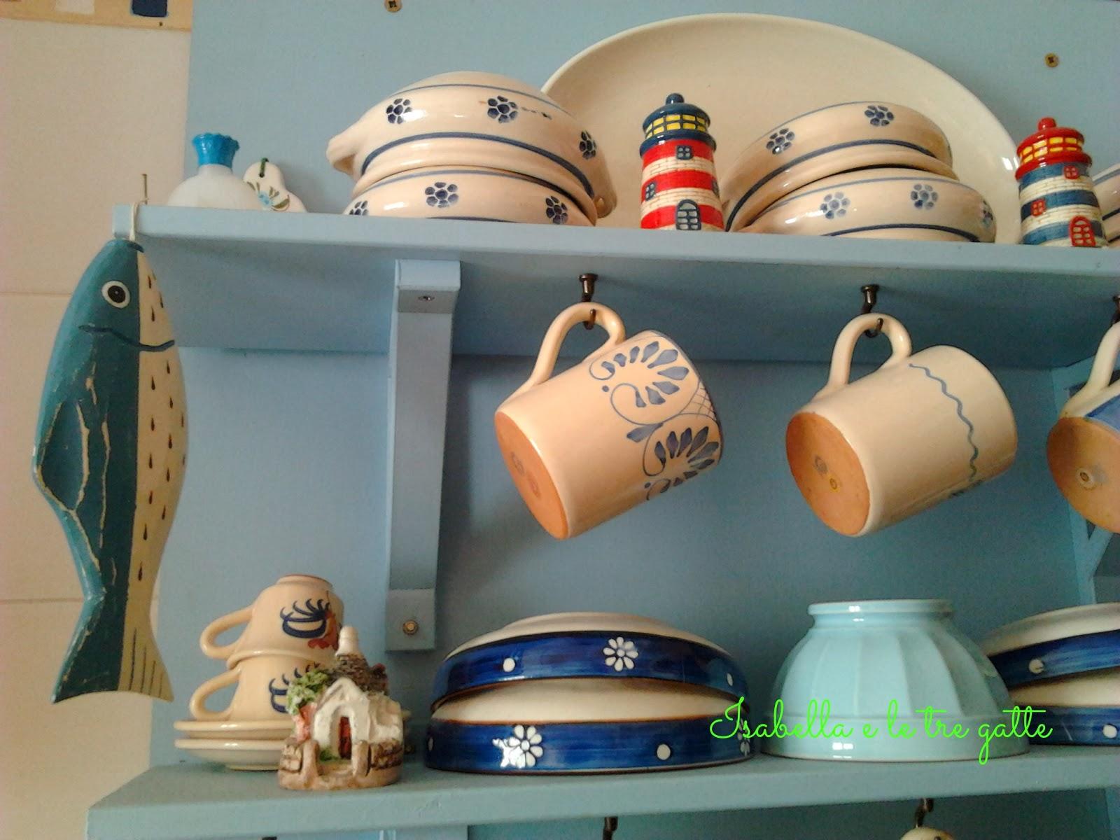 isabella e le tre gatte: azzurro in cucina - Cappelli Lampade Ikea