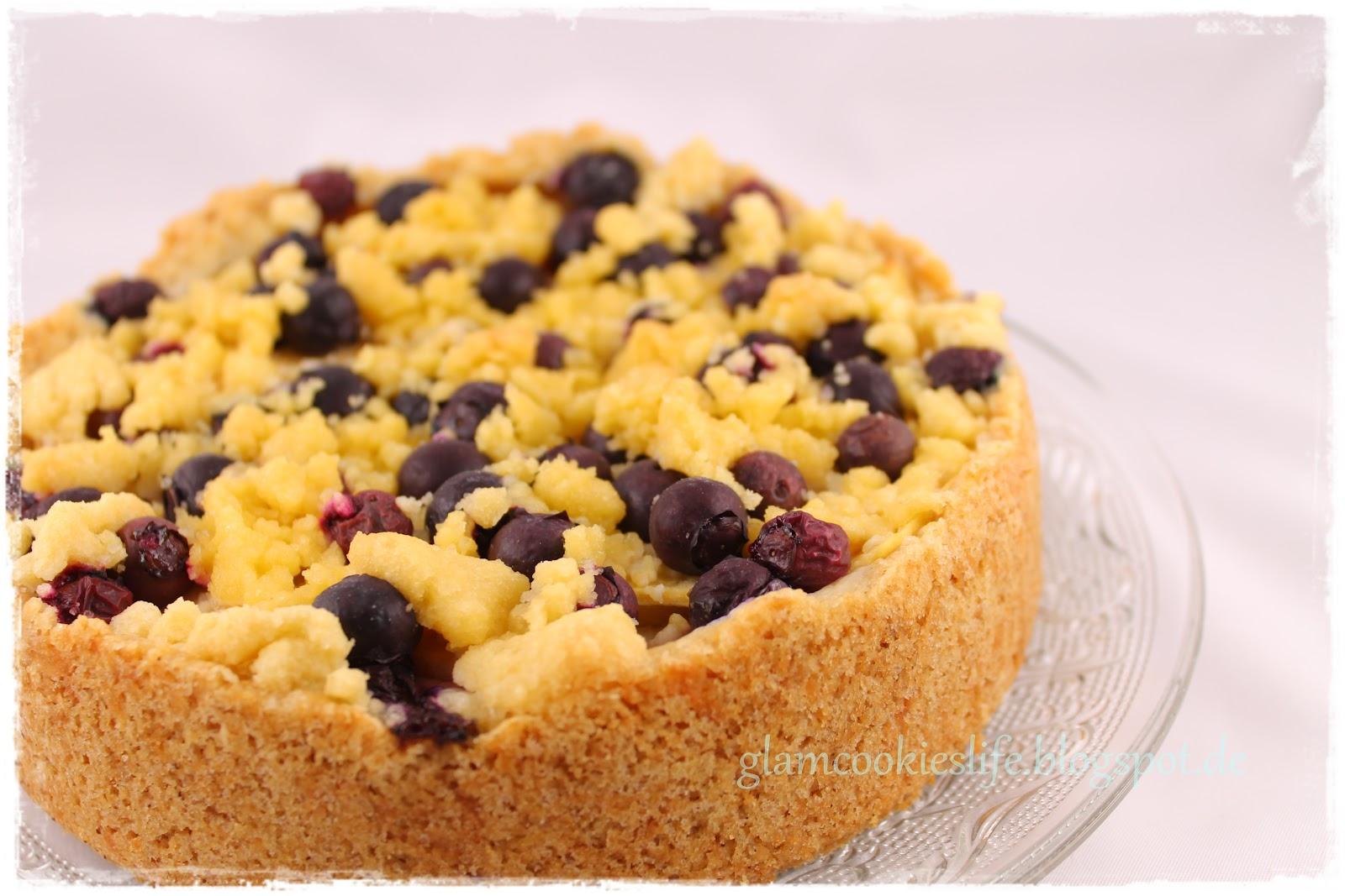 Glam*Cookies*Life*: {Rezept} Heidelbeer-Apfel-Kuchen