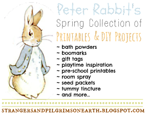 Peter Rabbit Printables and DIY Projects