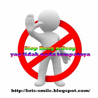 Stop Drag & Drop Windows yang tidak pada tempatnya