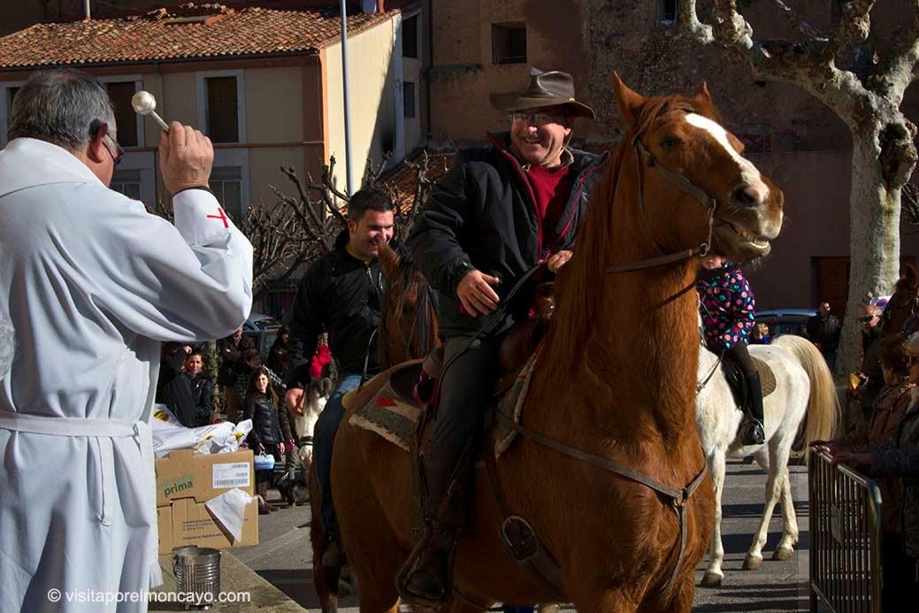 San Anton Tarazona; bendicion de animales Barrio San Miguel