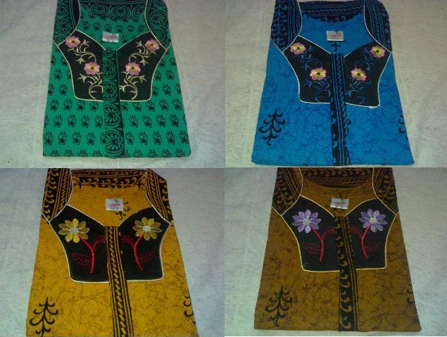 Fashionnighties Nighties With Floral Embroidery Neck Design