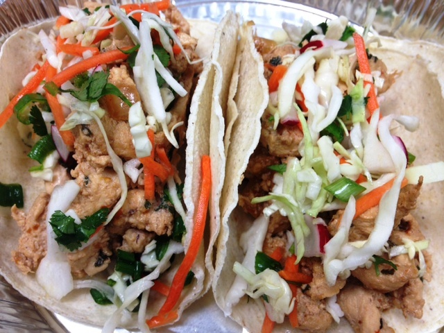 thai chicken tacos* | croutons & cupcakes*