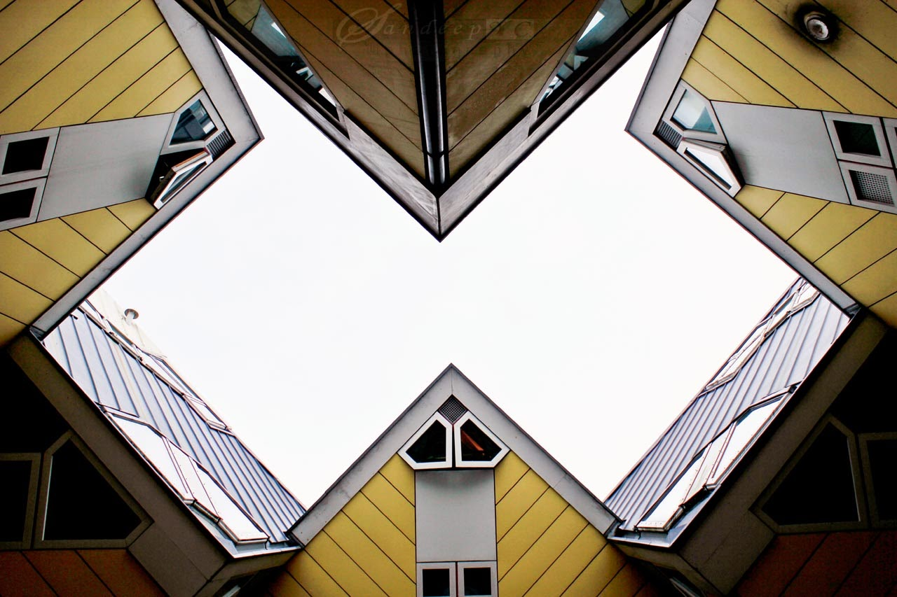 Geometrical angular views as seen from below