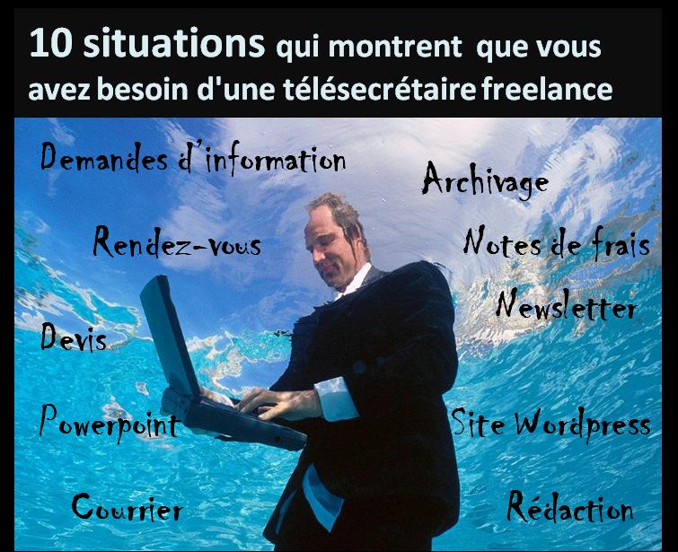 Situations qui montrent qu'un entrepreneur a besoin des services d'une télésecrétaire freelance