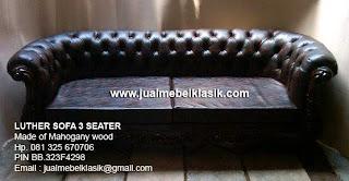 mebel klasik sofa klasik sofa dibalut dengan jok imitasi kulit oscar