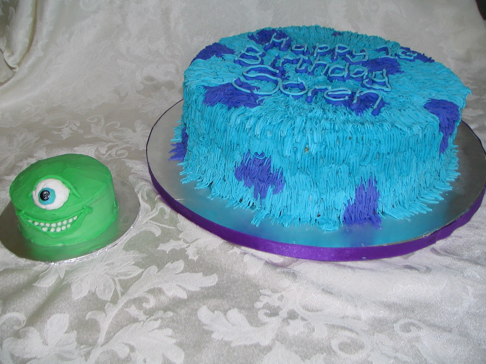 Piped Dreams Monsters Inc First Birthday Cake