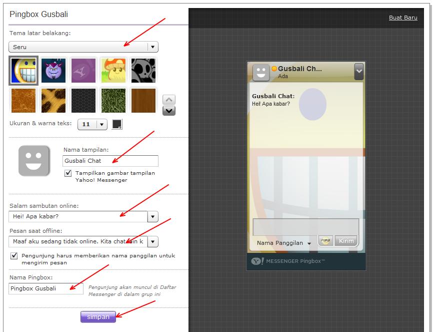 Cara Memasang Fasilitas YM PingBox di Blog   Cara Membuat