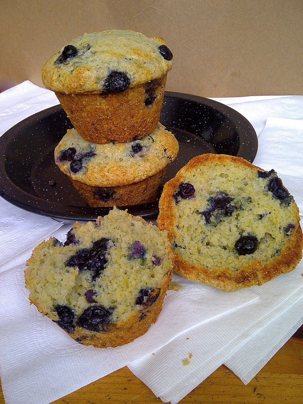 Blueberry Corn Muffins....can't decide on which to make - blueberry or corn?  Make both!  www.soliloquyoffood.com