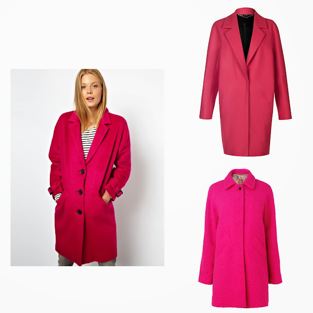 pink coat, coats, baby pink, fashion blogger, fashion trend 2013, street trend 2013, winter 2013, fuchsia, vibrant pink coat, asos, hobbs, jaeger
