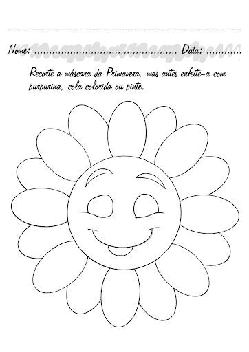 flores jardim primavera: máscaras de flores para comemorar a Primavera! – ESPAÇO EDUCAR