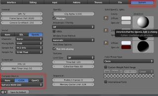 Activación de GPU en Cycles Blender