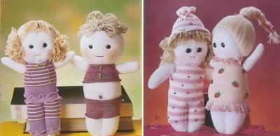 bonecas de meia para dia das crianças