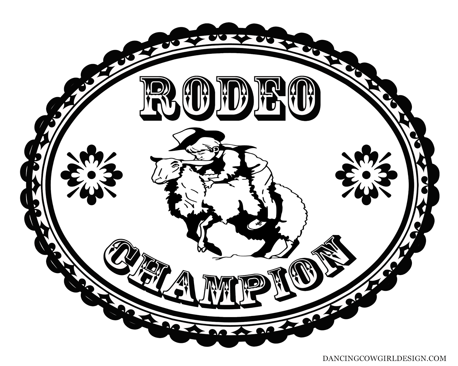 RODEO COLORING PAGES: Coloring Sheet Kid Rodeo Mutton Bustin\' Belt ...