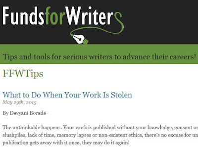 Verbolatry - Devyani Borade - What to do when your work is stolen - Funds For Writers