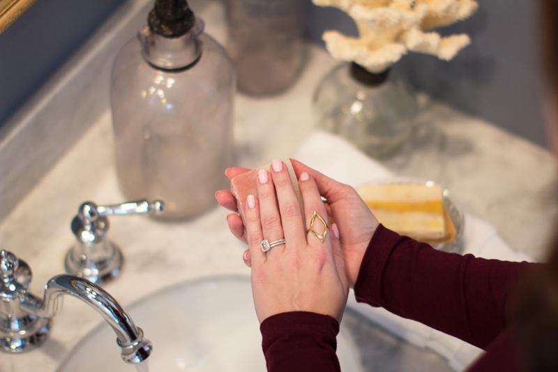 gorjana roya ring, moxxie essential care natural soap