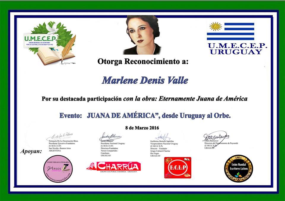 """UMECEP URUGUAY  """"JUANA DE AMÉRICA"""""""