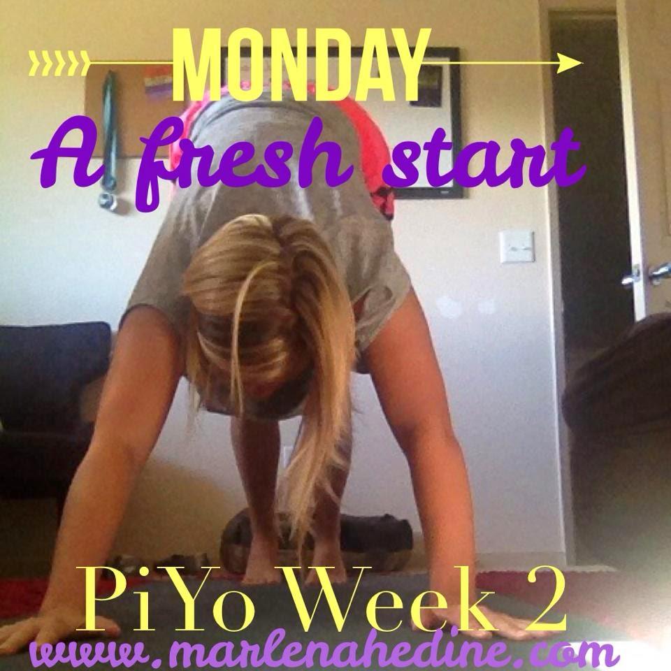 Piyo week 2 meal plan and progress update