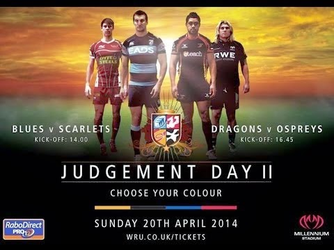 Judgement Day II, WRU, rugby, Wales, Millennium Stadium, Blues, Scarlets, Ospreys, Dragons, rugby