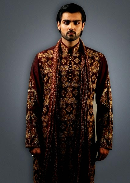 Mehndi For Gents : Dulha mehndi dress fashion by deepak perwani gents