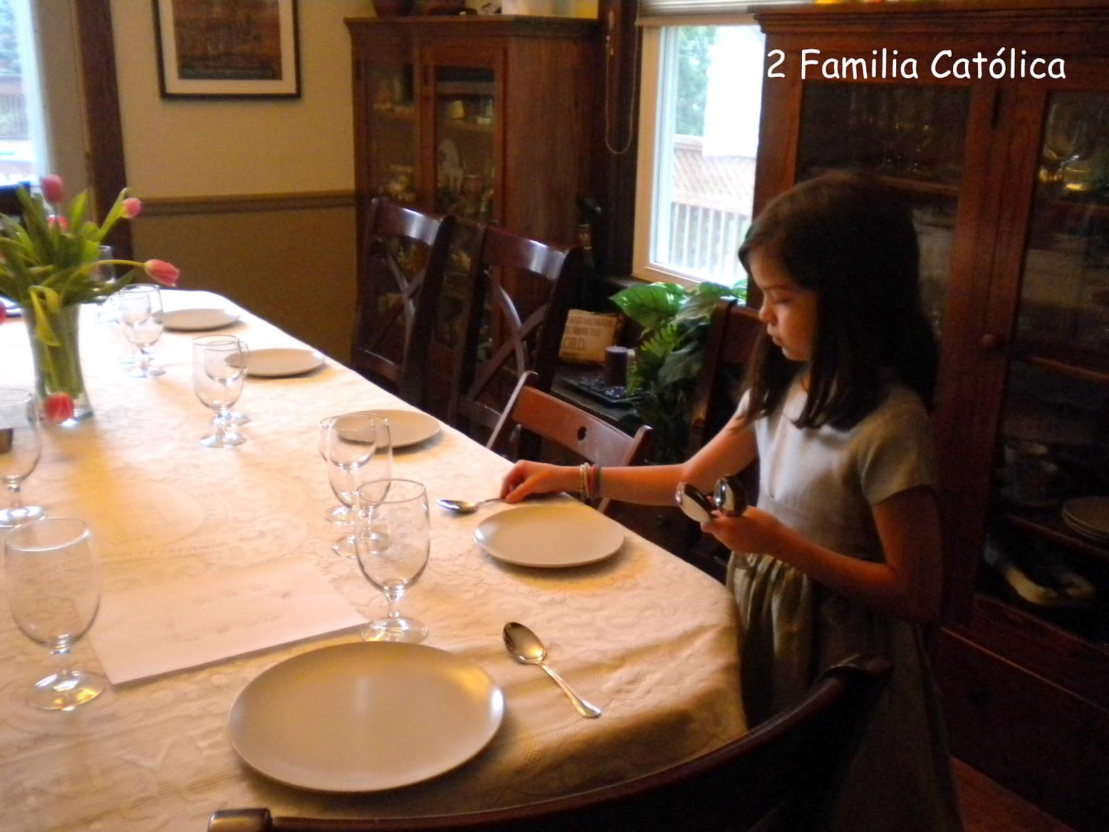 Familia cat lica fotos de nuestra pascua 2011 for Como poner una mesa bonita