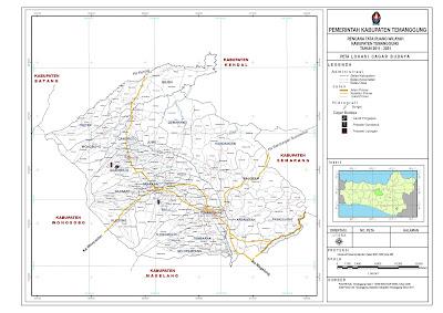 Peta Lokasi Cagar Budaya Kabupaten Temanggung