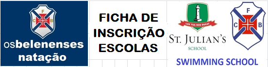 Ficha de Inscrição ESCOLAS