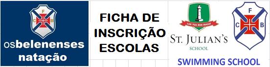 Ficha de Inscrição ESCOLAS