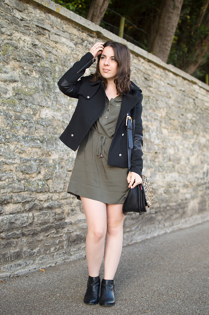 How to wear black leather ankle boots