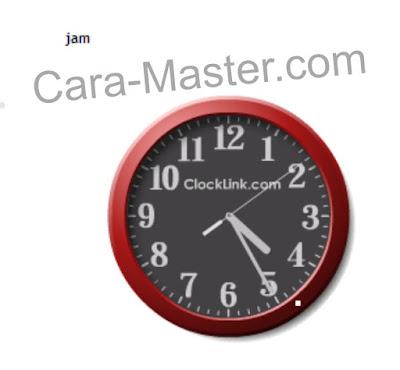 contoh tampilan jam pada blogspot