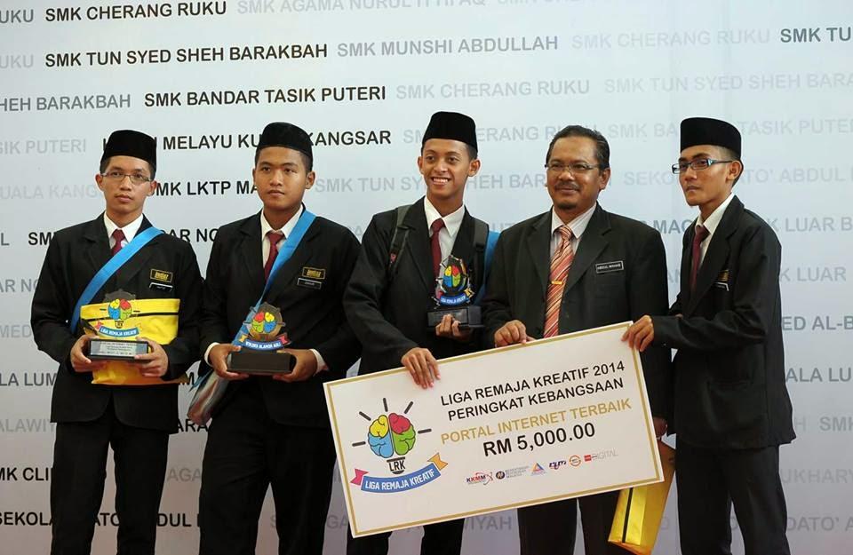 SMK Imtiyaz Kuala Terengganu Johan Web Portal Liga Remaja Kreatif 2014