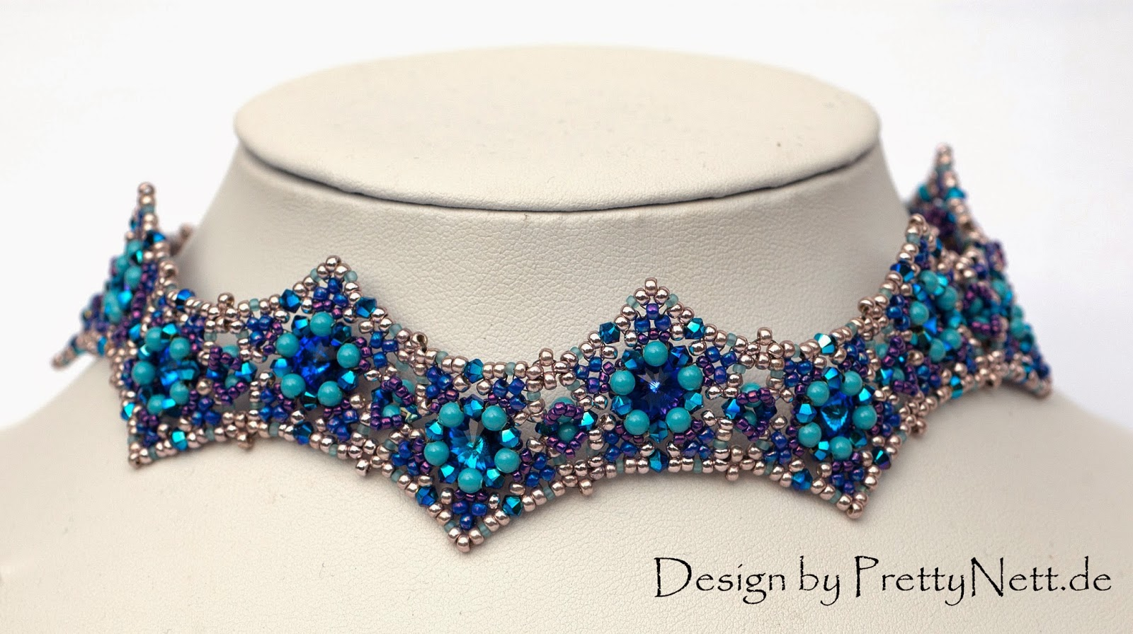 "Beading Pattern for choker ""Star Dust"" by PrettyNett"