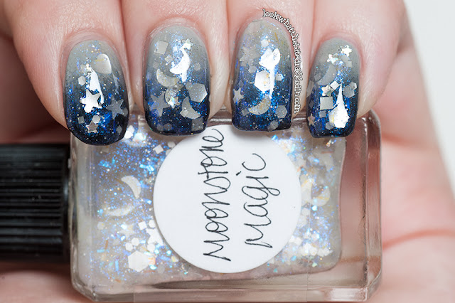Lynnderella nail polish manicure Moonstone Magic Zoya Dove Ulta3 Black Satin