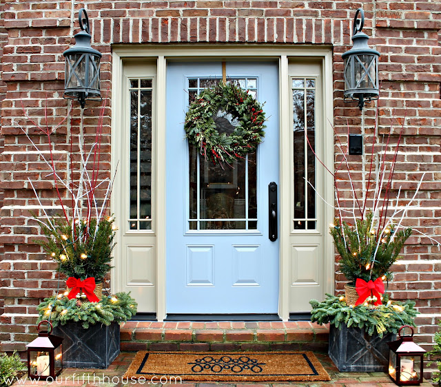 christmas front entry door